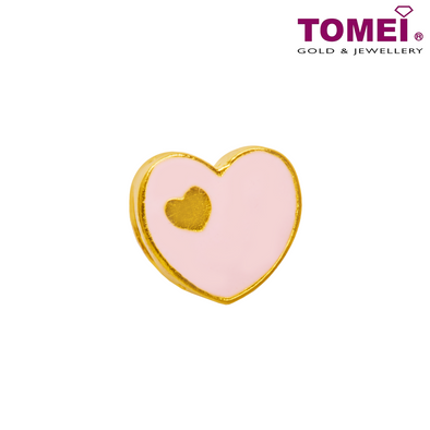 [Online Exclusive] You Make Me Blush Charm | Tomei Yellow Gold 916 (22K) with Complimentary Peach Pink Bracelet (TM-ABIT060-HG-EC)