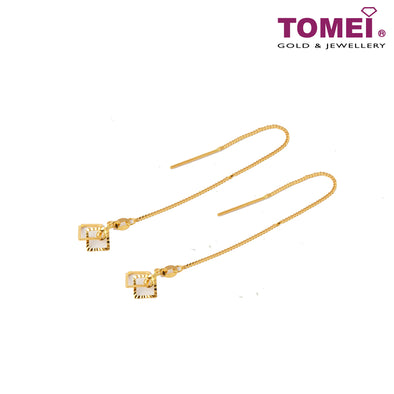 Allure Drop Earrings | Tomei Yellow Gold 916 (22K) (9Q-EDZK922-1C)