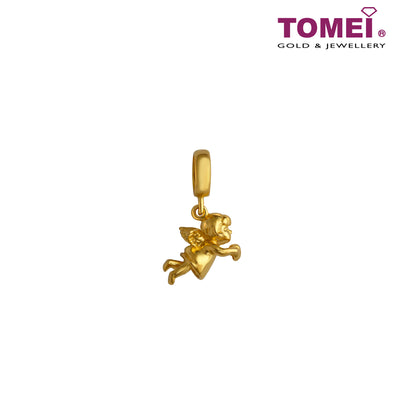 [Online Exclusive]Charm of Cherubic Joy | Tomei Yellow Gold 916 (22K) (TM-PT118-1C) Red