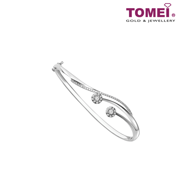 Bangle | Tomei White Gold 375 (9K)