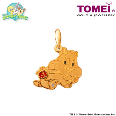 Baby Sylvester Pendant | Tomei x Baby Looney Tunes Yellow Gold 916 (22K) (SYL-2)