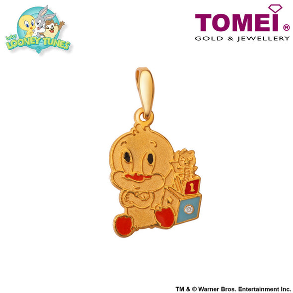 "Tomei x Baby Looney Tunes Yellow Gold 916 (22K) ""Baby Daffy Duck"" Pendant (DAT-1)"