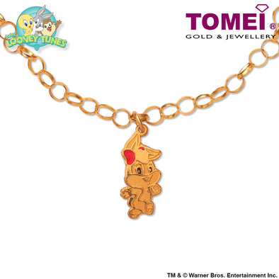 Baby Lola Bunny Child Bracelet | Tomei x Baby Looney Tunes Yellow Gold 916 (22K) (97-06)