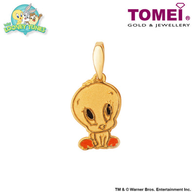 "Tomei x Baby Looney Tunes Yellow Gold 916 (22K) ""Baby Tweety"" Pendant (92-17)"