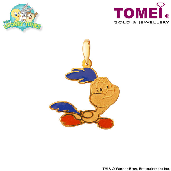 "Tomei x Baby Looney Tunes Yellow Gold 916 (22K) ""Baby Road Runner"" Pendant (ROR-1)"