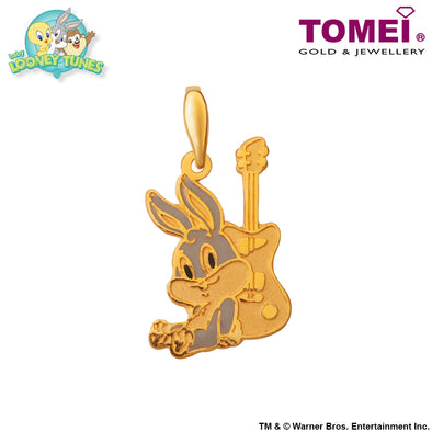 "Tomei x Baby Looney Tunes Yellow Gold 916 (22K) ""Baby Bugs Bunny"" Pendant (LOG-1)"