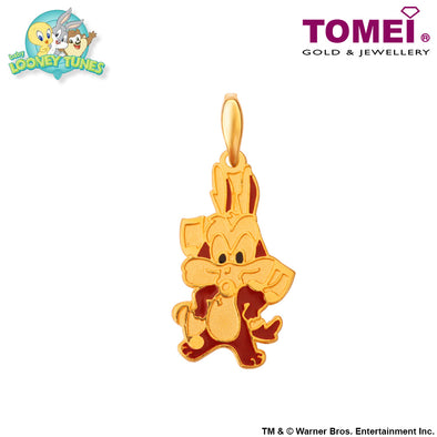"Tomei x Baby Looney Tunes Yellow Gold 916 (22K) ""Baby Wile E. Coyote"" Pendant (WILE-1)"