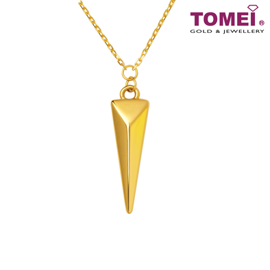 [Online Exclusive] Triangle Pyramid Necklace | Tomei Yellow Gold 999 (24K) (BTN-5D-031)