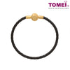 [Online Exclusive]Rollicking Sphere of Love Charm| Tomei Yellow Gold 916 (22K) (TM-YG0529P-EC) | Black Bracelet