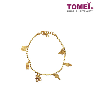 [Online Exclusive]My Treasured and Cherished Sweetheart Bracelet | Tomei Yellow Gold 916 (22K) (TZ-N01020-1C)
