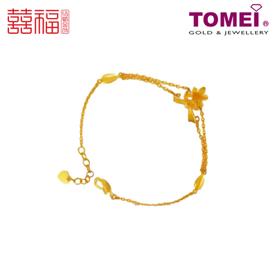 [ONLINE EXCLUSIVE PRE ORDER] Tomei x Xifu Yellow Gold 999 (24K) Perfect Gift Bangle 完美礼物•S2 手镯 (XF-WMLW-S2-M)