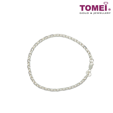 [Online Exclusive] Frosty Faith Men's Cable Bracelet | 20 cm | Tomei Sterling Silver 925 (SB0302114)