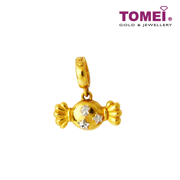 [Online Exclusive] The Starry Candy Charm | Tomei Yellow Gold 916 (22K) TM-YG0344P-2C with Coral Blue Bracelet