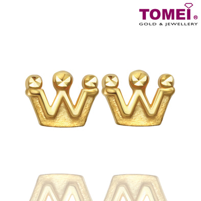 Tomei Yellow Gold 916 (22K) The Noble Collection Earrings (E2758-1C)
