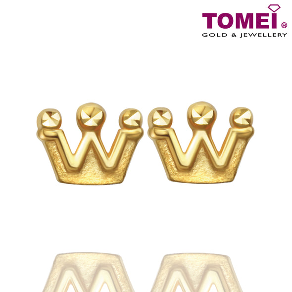 Queen Earrings | The Noble Collection | Tomei Yellow Gold 916 (22K) (EE2758-1C)