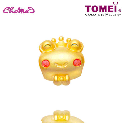 "Tomei Yellow Gold 916 (22K) The Golden Chomel ""The Frog Prince"" Chomel Charm (TM-YG0659P-EC)"