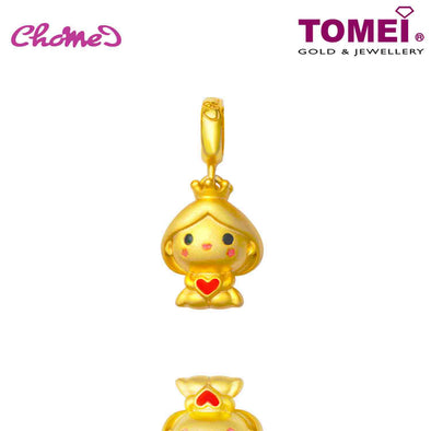 [Online Exclusive] Princess Chomel Charm | The Golden Chomel | Tomei Yellow Gold 916 (22K) with Complimentary Peach Pink Bracelet (TM-YG0658P-EC)