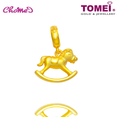[Online Exclusive] Carousel Horse Chomel Charm  | The Golden Chomel | Tomei Yellow Gold 916 (22K) with Complimentary Navy Blue Bracelet (TM-YG0661P-1C)