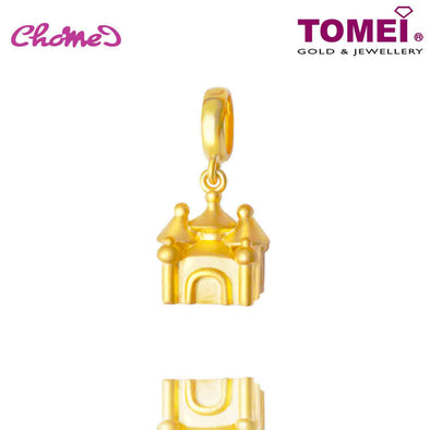 [Online Exclusive] Fairytale Castle Chomel Charm | The Golden Chomel | Tomei Yellow Gold 916 (22K) with Complimentary Navy Blue Bracelet (TM-YG0662P-1C)