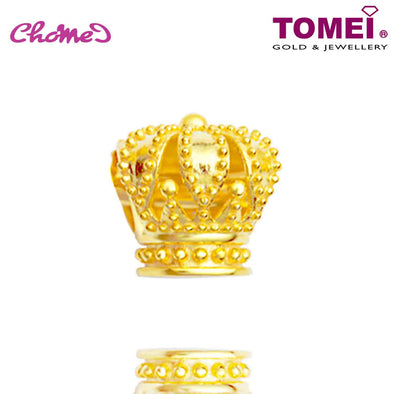 [Online Exclusive] Royal Crown Chomel Charm | The Golden Chomel | Tomei Yellow Gold 916 (22K) with Complimentary Black Bracelet (TM-YG0637P-1C)