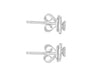 "Tomei White Gold 375 (9K) ""Diamond Crown"" Diamond Earrings (E1706)"