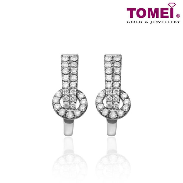 Tomei White Gold 375 (9K) Diamond Earrings (E2009)