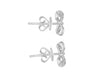 "Tomei White Gold 375 (9K) ""Too Sweet Ribbon"" Diamond Earrings (E1973)"