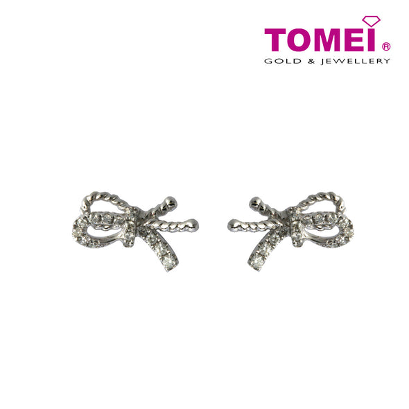 Ribband in Bedazzling Elegance Diamond Earrings | Tomei White Gold 375 (9K) (E073692)