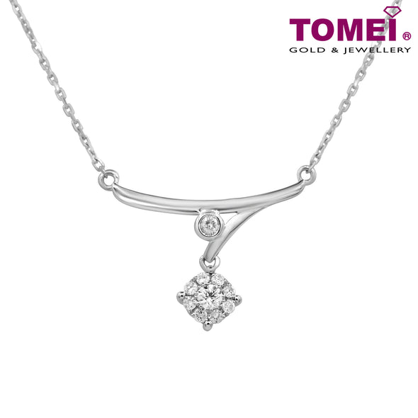 [Online Exclusive] Love Horizon Diamond Necklace | Tomei White Gold 375 (9K) (B1064)