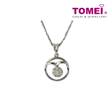 Sparkling in Splendour with Sophistication Diamond Necklace | Tomei White Gold 375 (9K) (P4187)