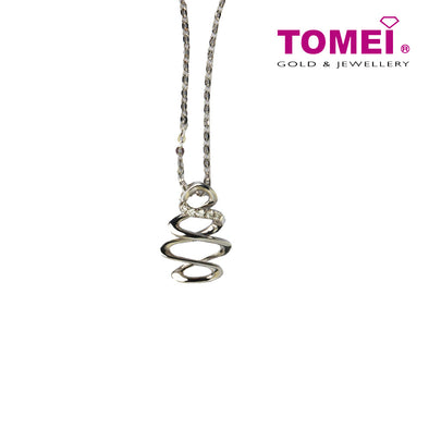 Diamond Necklace of Whirl in Camaraderie | Tomei White Gold 375 (9K) (P3288V)
