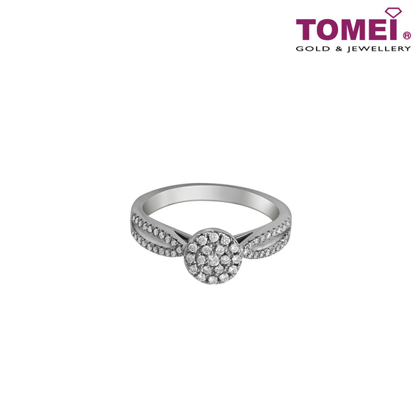 Ring of Diamantes with Enthralling Bedazzlement | Winter Grace Collection | Tomei White Gold 585 (14K) (R4780)