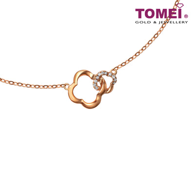 Necklace of Clovers with Luminosity | 40-42.50cm | Santa's Sleigh | Tomei Rose Gold 750 (18K) (GDITPH00696)