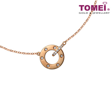 Necklace of Spherical of Sparkles | Santa's Sleigh | Tomei Rose Gold 750 (18K) (JMBN0104)