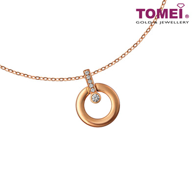 Necklace of Circularity with Linear Dazzlement | Santa's Sleigh | Tomei Rose Gold 750 (18K) (JMAN0488)