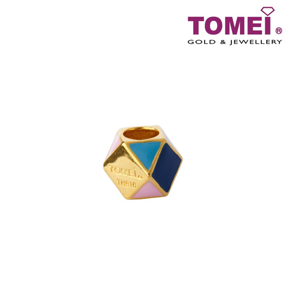 [Online Exclusive]Love Dimension Cube Charm | Tomei Yellow Gold 916 (22K) (TM-YG0553P-EC)