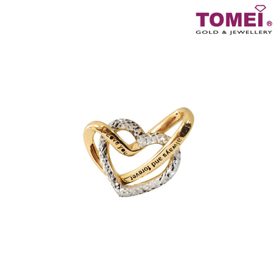 [Online Exclusive]Dual-Tone Love Promise Pendant | Tomei Yellow Gold 916 (22K) (9P-YG0801P-2C)