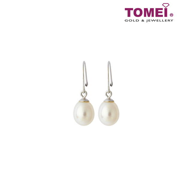 [Online Exclusive] Pearlfect Love Pearl Earrings | Tomei White Gold 750 (18K) (E10256-57PL01-E1813P)