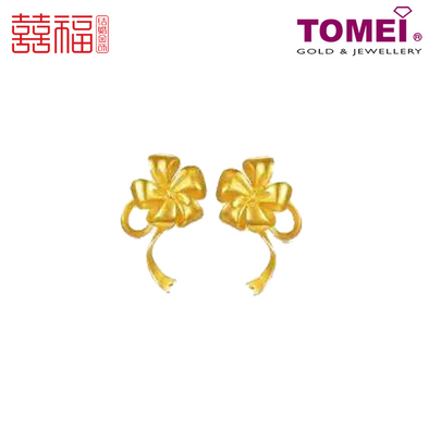 [ONLINE EXCLUSIVE PRE ORDER] Tomei x Xifu Yellow Gold 999 (24K) Blossoming Lilies Earrings 百合盛欢•L 耳环 (XF-BHSH-L-Q)