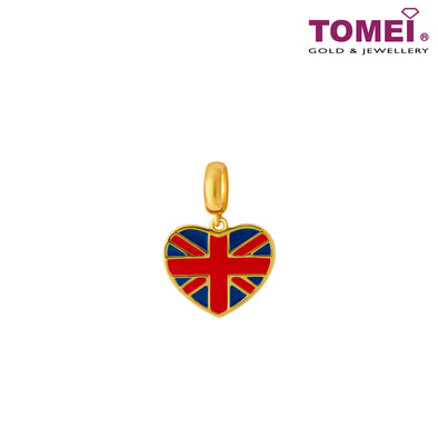 [Online Exclusive]Little London Charm of the Union Jack Pride | Tomei Yellow Gold 916 (22K) (TM-YG0809P-EC) Red