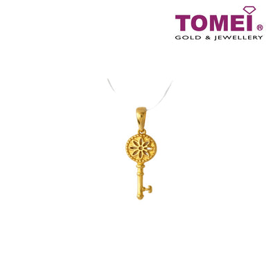 Flower Key Pendant | Tomei Yellow Gold 916 (22K) (9P-YG0533P-1C)
