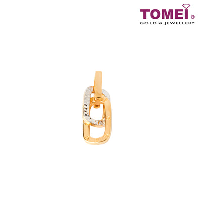 [Online Exclusive]Dual-Tone Forever Entwined Pendant | Tomei Yellow Gold 916 (22K) (9P-YG0802P-1C)