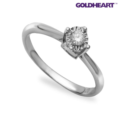 Tomei White Gold 750 (18K) Promesse Diamond Ring (RD24006)