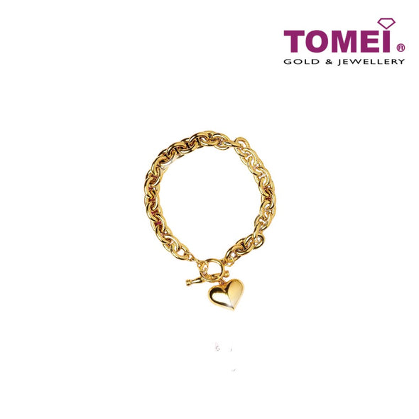 Glamorosa Classic Link Chain Bracelet | Tomei Yellow Gold 916 (22K) (BB2962-1C)