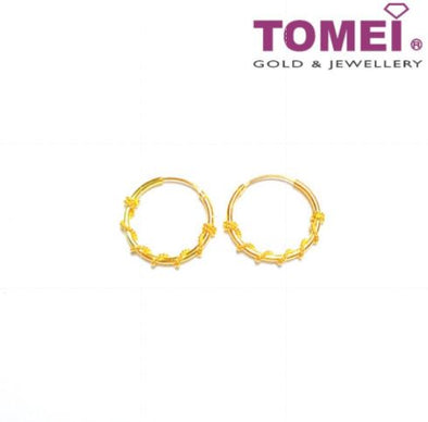 [Online Exclusive] Glitzy Glam Earrings | Tomei Yellow Gold 916 (22K) (9Q-XYHJG01A-1C)