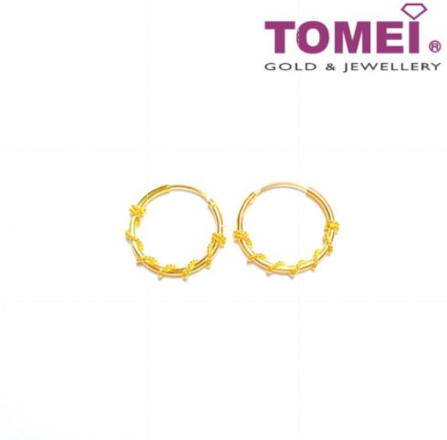 [Online Exclusive] Glitzy Glam Earrings | Tomei Yellow Gold 916 (22K) 9Q-XYHJG01AB-1C