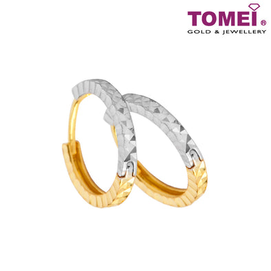 Hoop Earrings | Tomei 916 (22K) Yellow Gold (9Q-ER1435-D02-2C)