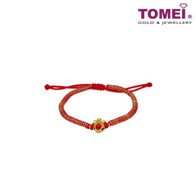 [Limited Stock] Atomic Adjustable Bracelet (多美可调节红手链) | Tomei 999 (24K) (KP-RS)