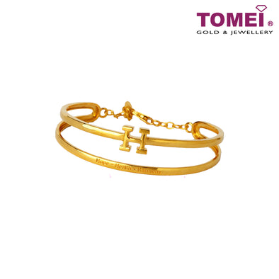 H for Hope, Health & Harmony Bracelet | Tomei Yellow Gold 916 (22K) (9L-YG1241B-1C)