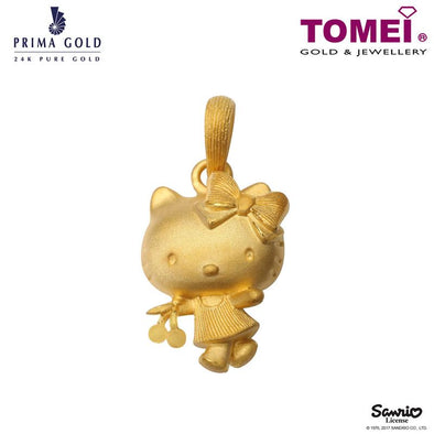 "Tomei x Prima Gold Hello Kitty Yellow Gold 999 (24K) ""Cherries Pinku Collection"" Pendant (HK-111P1480)"